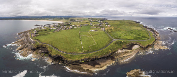 A Panoramic shot of Mullaghmore, County Sligo, Ireland - Photo Print - Aerial Creations - Amazing Aerial Photography of Ireland.