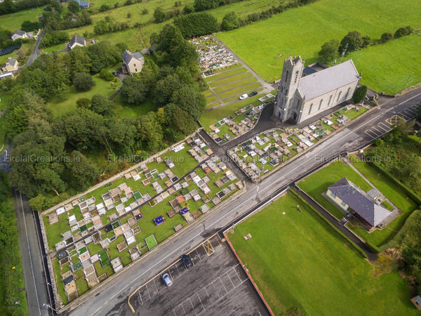 Saint Brigid's Catholic Church, Ballintra, Donegal - Digital Download - Aerial Creations - Amazing Aerial Photography of Ireland.