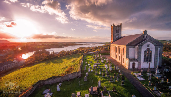 St.Anne's Church, Ballyshannon. Digital Download - Aerial Creations - Amazing Aerial Photography of Ireland.