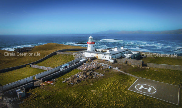 Aerial shot of Lighthouse at St. John's Point, Donegal.. - Digital Download - Eireial Creations - Drone Operator - Aerial Photography Ireland