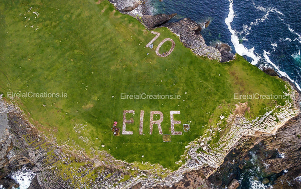 The Eire Sign at St. John's Point, Donegal.. - Digital Download - Aerial Creations - Amazing Aerial Photography of Ireland.