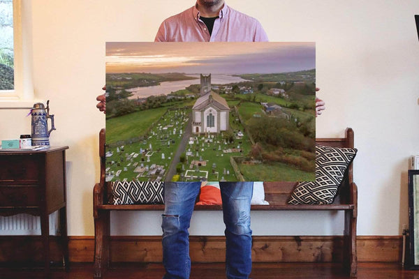 St. Annes Church, Ballyshannon, Donegal on Canvas. - Aerial Creations - Amazing Aerial Photography of Ireland.