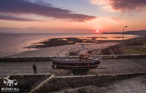 Sunset at Mountcharles Pier - Digital Download - Aerial Creations - Amazing Aerial Photography of Ireland.