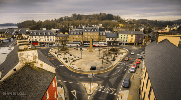 The Diamond early morning, Donegal Town, County Donegal. - Digital Download. - EireialCreations