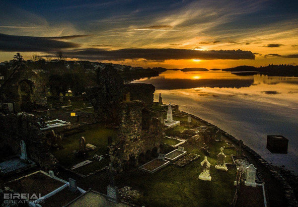 The Old Abbey Graveyard, Donegal Town, County Donegal on Canvas. - Aerial Creations - Amazing Aerial Photography of Ireland.