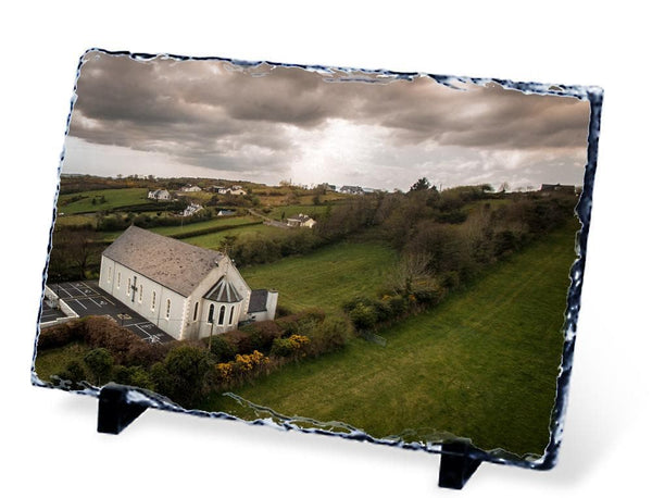 St. Naul's Church, Ardaghey, County Donegal - Slate - Aerial Creations - Amazing Aerial Photography of Ireland.