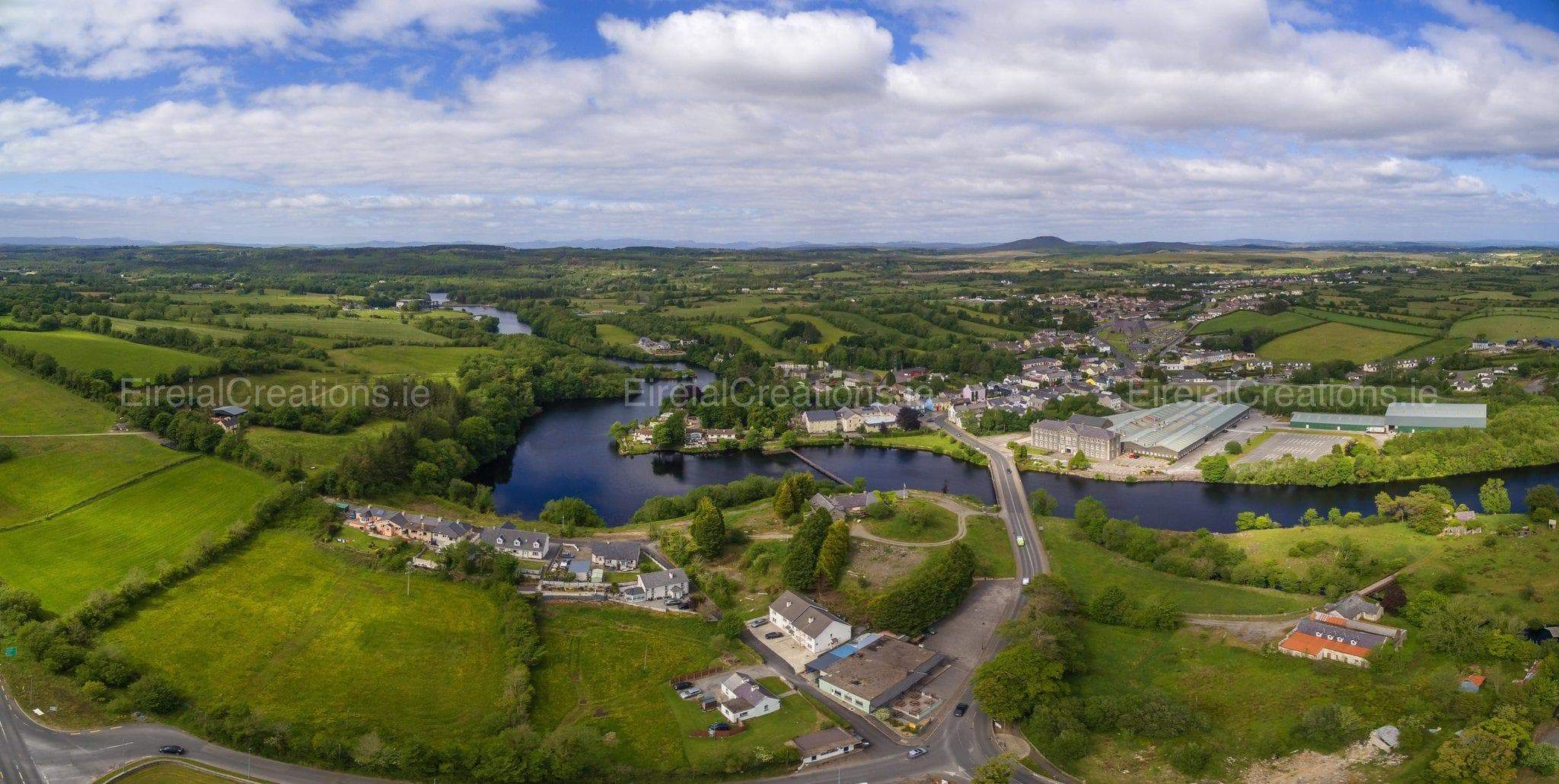 A Panoramic view of Belleek, Fermanagh.