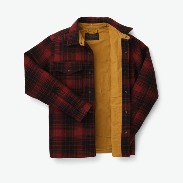 Filson Skyrta - Mackinaw Jac Shirt - Oxblood/Black