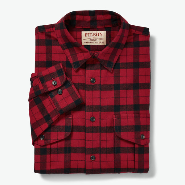 Filson Skyrta - Alaskan Guide Shirt - Red/Black
