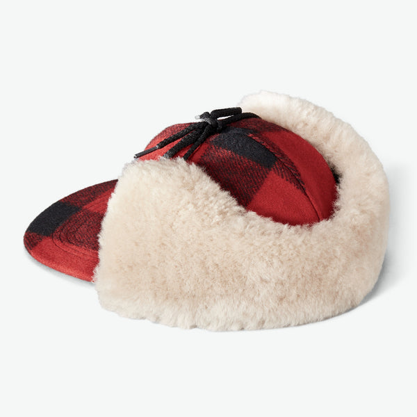 Filson Húfa - Double Mackinaw Cap - Red/Black/Birch