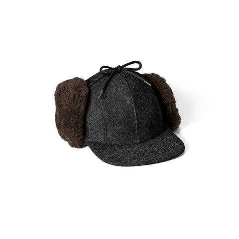 Filson Derhúfa - Double Mackinaw Cap - Charcoal Dark Brown