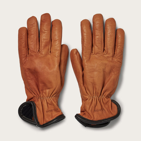 Filson Hanskar - Lined Goatskin Gloves - Saddle Brown
