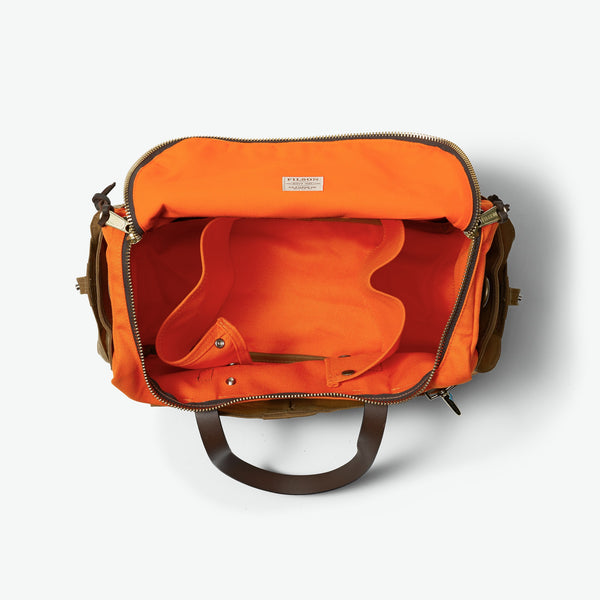 Filson Taska - Heritage Sportsman Bag - Orange/Dark/Tan