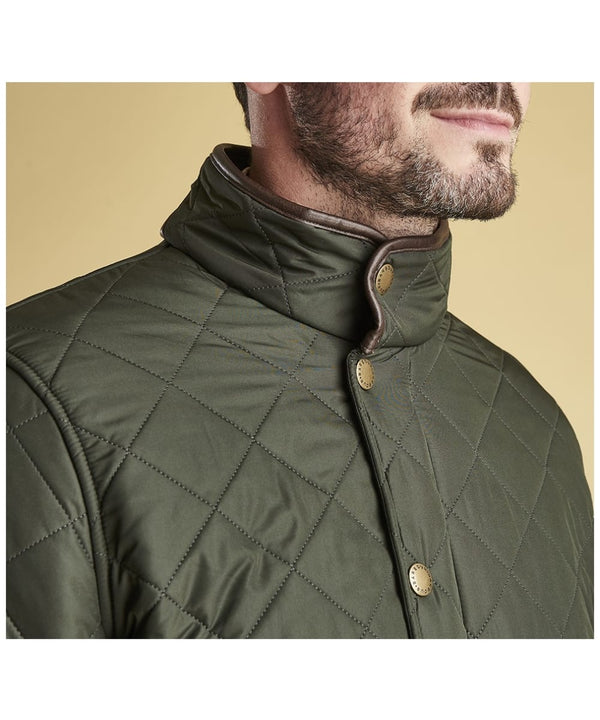 Barbour Vatteraður Jakki - Powell Quilted Jacket - Olive