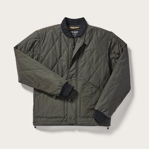 Filson Jakki - Quilted Pack Jacket - Otter Green