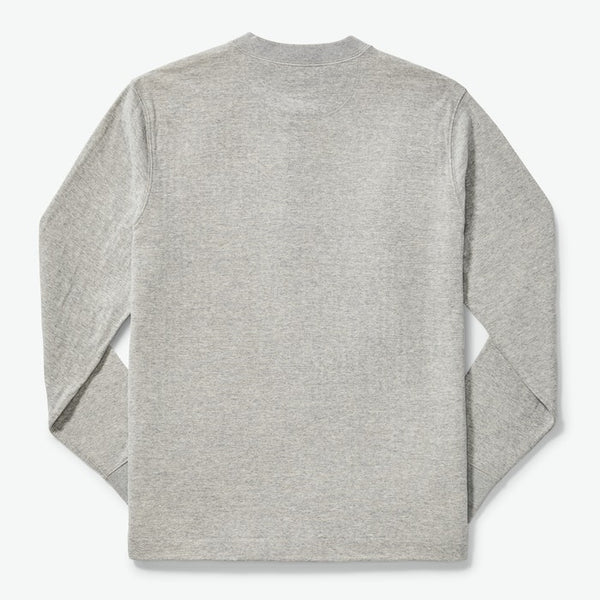 Filson Síðerma Bolur - Double Layer Henley - Heather Grey