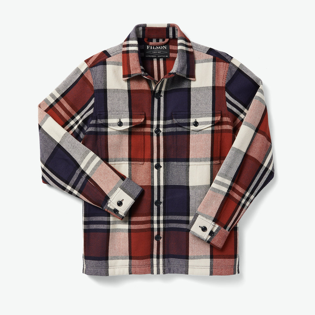 Filson Yfirskyrta - Deer Island Jac Shirt - Rust/Navy/Cream Plaid