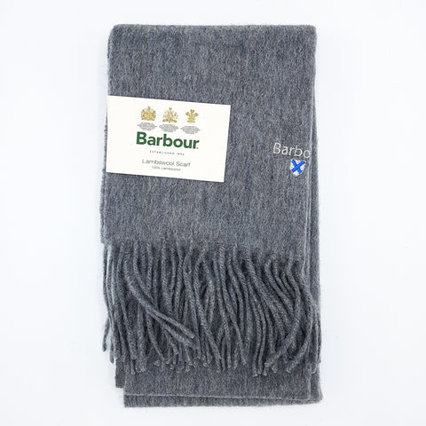 Barbour Trefill - Plain Lambswool Scarf - Lt Grey Marl
