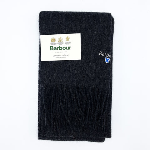 Barbour Trefill - Plain Lambswool Scarf - Charcoal/Grey