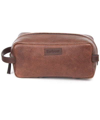 Barbour Snyrtitaska - Laddon Leather Washbag - Brown