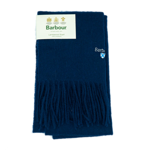 Barbour Trefill - Plain Lambswool Scarf - Navy