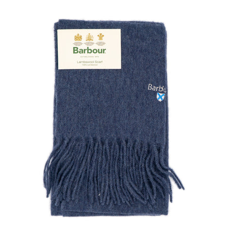 Barbour Trefill - Plain Lambswool Scarf - Sapphire Blue