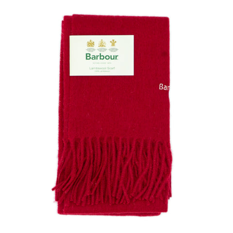 Barbour Trefill - Plain Lambswool Scarf - Red