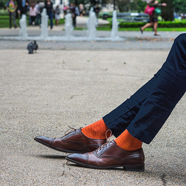 London Sock - BLOOMSBURY ORANGE