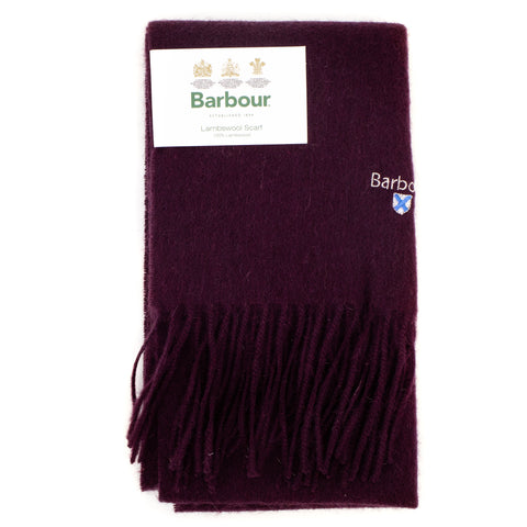Barbour Trefill - Plain Lambswool Scarf - Wine