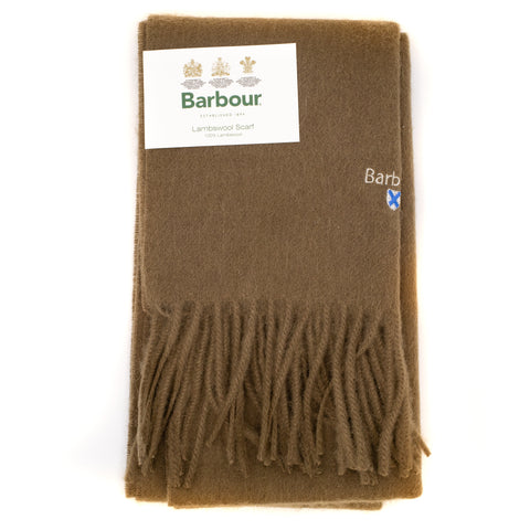 Barbour Trefill - Plain Lambswool Scarf - Fossil
