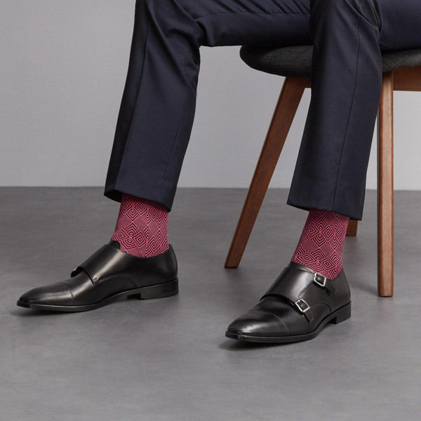 London Sock - Jacquard Rose