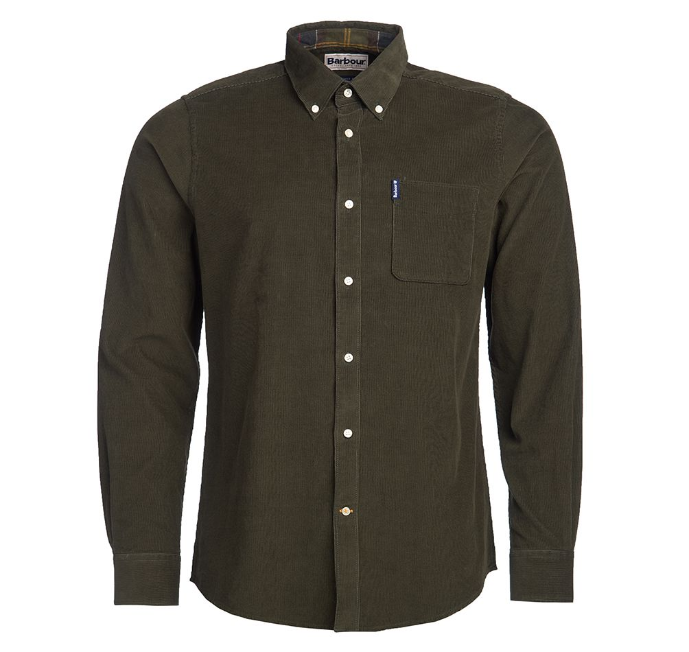 Barbour Skyrta - Cord 2 Tailored - Forest