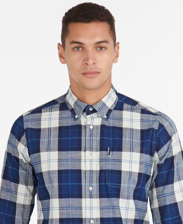 Barbour Skyrta - Indigo 9 - Indigo - Tailored Fit
