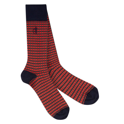 London Sock - Shaken And Strirred Red