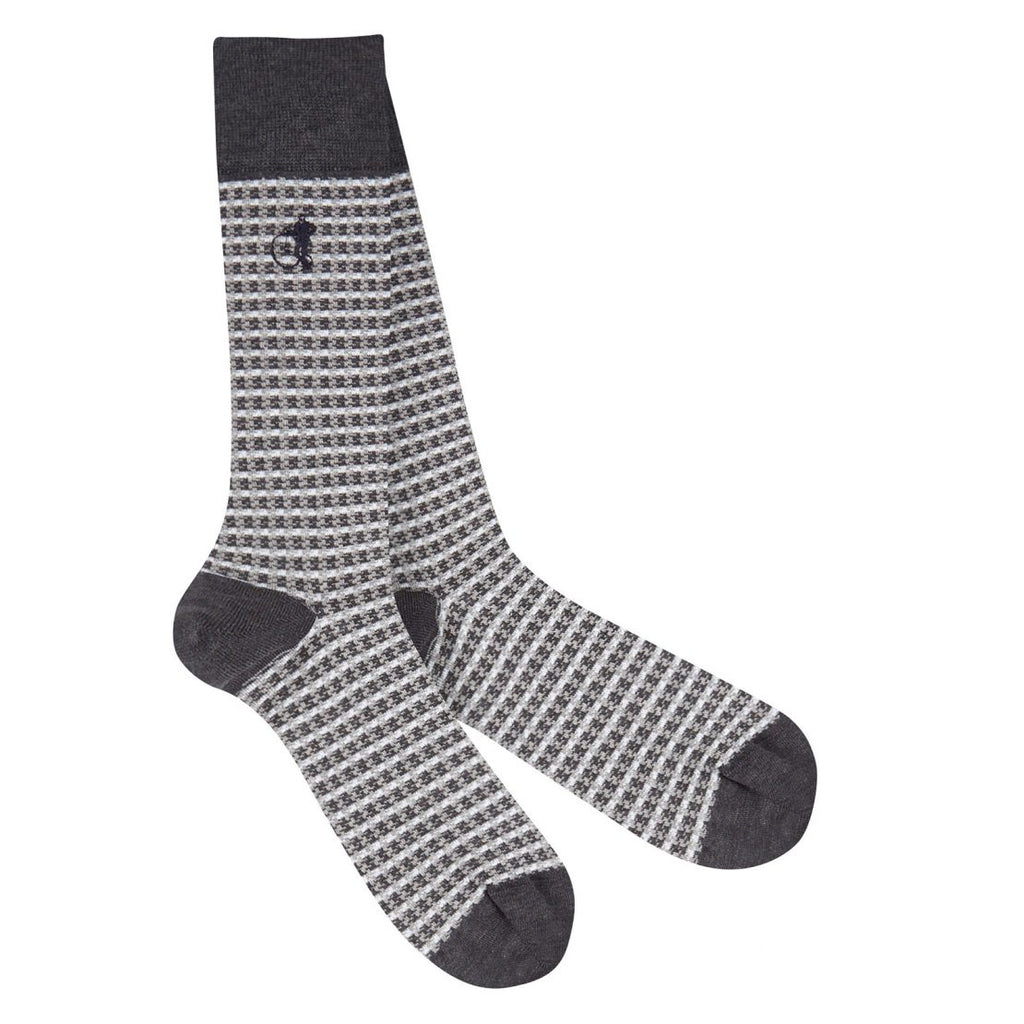 London Sock - Shaken And Stirred Grey Sokkar- Herrafataverslun Kormáks & Skjaldar