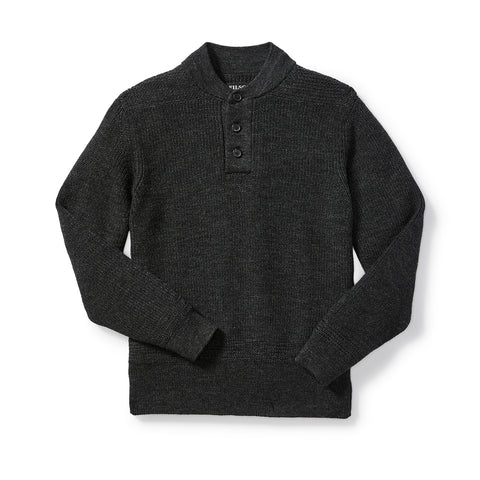 Henley Sweater - Charcoal