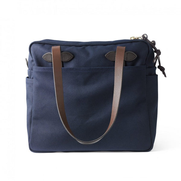 Tote Bag w/Zipper - Navy