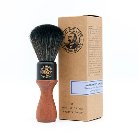 Captain Fawcett Rakbursti - Wooden Handle Faux Fur
