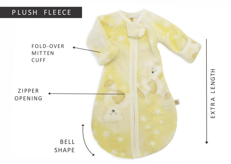 Wearable blanket used to promote a healthy and comfortable sleep for infants up to 12 months of age