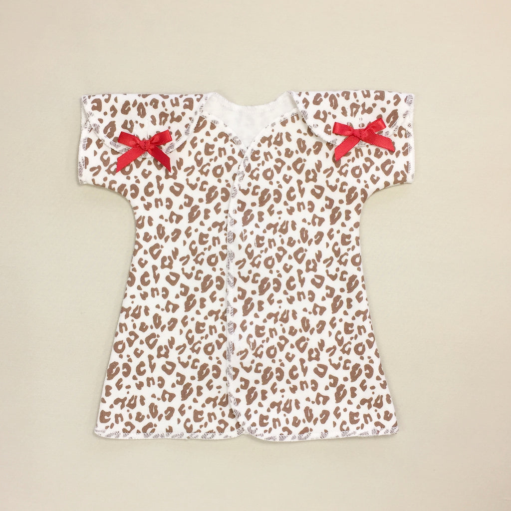 preemie baby leopard dress