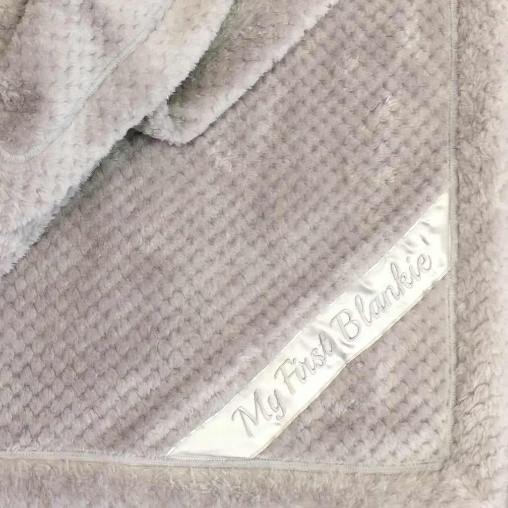 Mini My First Blankie in Silver  Made in Canada