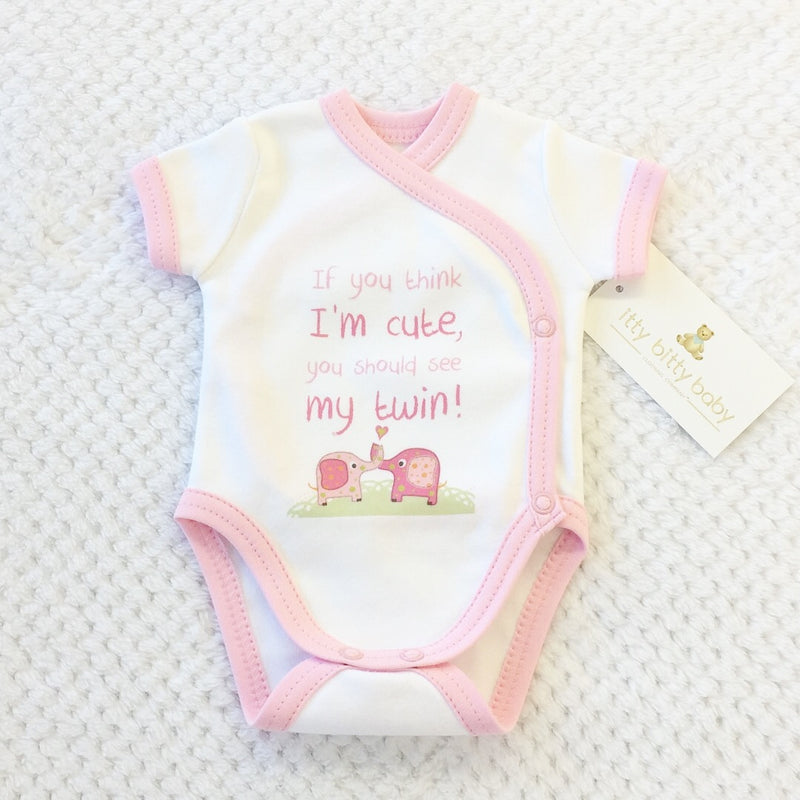NICU Baby kimono bodysuit If You Think I'm Cute Made in Canada