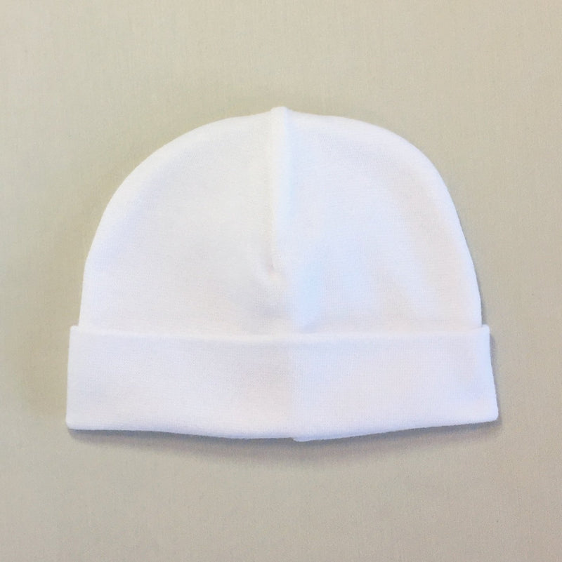 Custom embroidered baby hat white