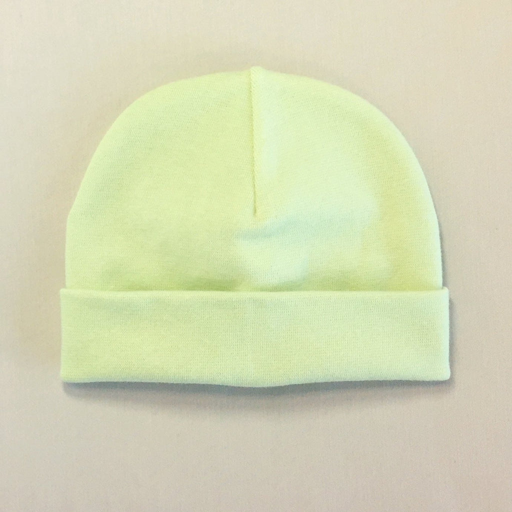 Custom embroidered baby hat green