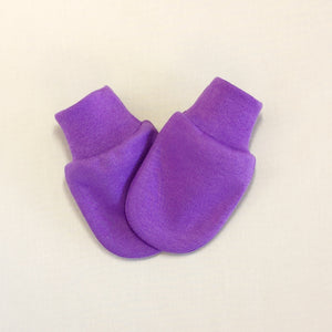 purple scratch mitten