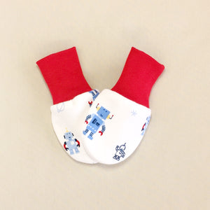 Scratch Mittens Robots - Red