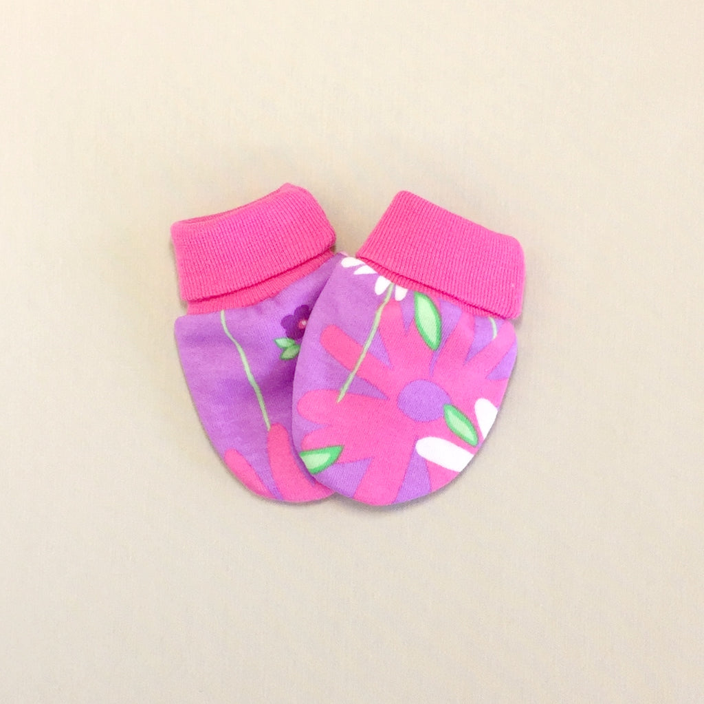 Scratch Mittens Wildflower - Fuchsia