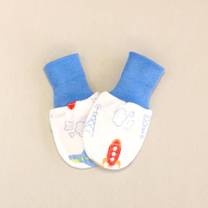 airplane cotton scratch mittens