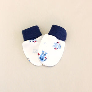 cotton scratch mittens