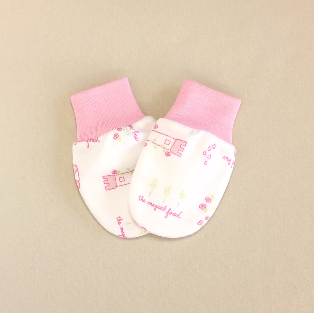 princess baby scratch mittens